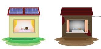 Zonne-energie stock illustratie