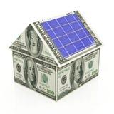 Zonne-energie - besparingen Royalty-vrije Stock Afbeelding
