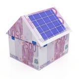 Zonne-energie - besparingeneuro Royalty-vrije Stock Afbeeldingen