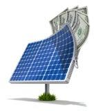 Zonne-energie - besparingsconcept vector illustratie