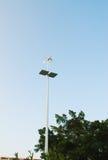 Zonne-energie en windmolen Royalty-vrije Stock Foto's