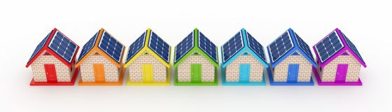 Zonne-energieconcept. Stock Afbeelding