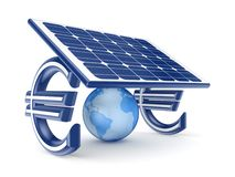 Zonne-energieconcept. royalty-vrije illustratie