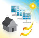 Zonne-energiehuis stock illustratie