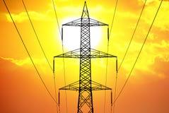 Zonne-energiemacht Stock Foto