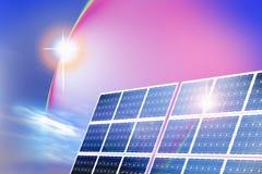 Zonne-energiepanelen stock illustratie