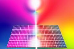 Zonne-energiepanelen royalty-vrije illustratie