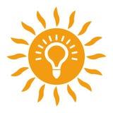 Zonne-energiepictogram op witte achtergrond vector illustratie