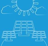 Zonne-energievector Royalty-vrije Stock Afbeeldingen