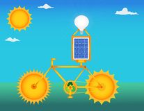 Zonne fiets Stock Afbeelding