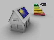 Zonne huis stock illustratie