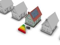 Zonne huis vector illustratie