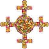 Zonne oud archaïsch Keltisch Noords kruis stock fotografie