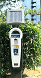 Zonne parkeermeter Royalty-vrije Stock Afbeelding
