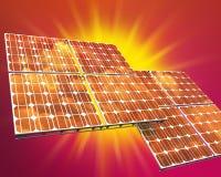 Zonne photovoltaic paneel Royalty-vrije Stock Afbeelding
