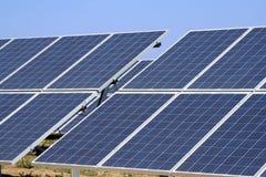 Zonne photovoltaic panelen Royalty-vrije Stock Afbeelding