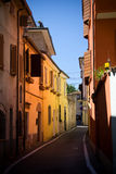 Zonne straat in Rimini stock foto