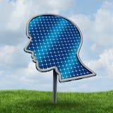 Zonne thermisch alternatieve energiepaneel Stock Foto