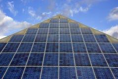 Zonne thermisch alternatieve energiepaneel Stock Foto's