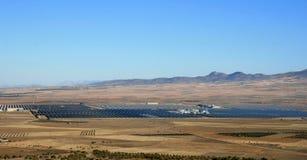 Zonne thermische elektrische centrale van Guadix, Spanje Royalty-vrije Stock Afbeeldingen