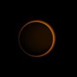 Zonne vector realistisch van de zonverduistering Stock Afbeelding