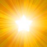 Zonneverlichting in de vorm van sterren vector illustratie