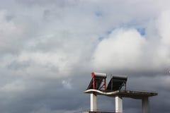 Zonne waterverwarmer Royalty-vrije Stock Fotografie
