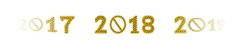 Zonnebloem 2017 2018 2019 Royalty-vrije Stock Afbeeldingen