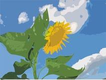 Zonnebloem vector illustratie