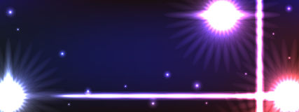 Zonnebloem abstracte lichte horizontale banner Royalty-vrije Stock Foto's
