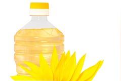 Zonnebloemen en olie Royalty-vrije Stock Fotografie