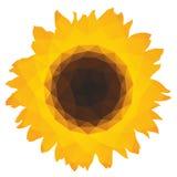 Zonnebloempictogram met driehoekige veelhoeken Stock Foto's