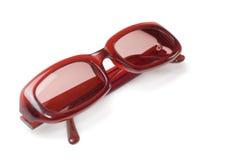 Zonnebril die op wit wordt geïsoleerdl Stock Foto's