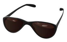Zonnebril met donkere bruine glazen met zwarte kaders Royalty-vrije Stock Foto's