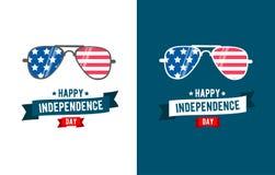Zonnebrilpatriot Onafhankelijkheid Dag vierde van juli royalty-vrije illustratie