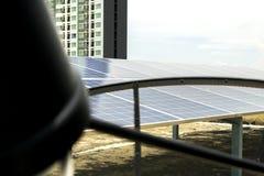 Zonnecel Toekomstige Energie Stock Foto