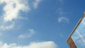 Zonnecellen en zon, timelapse stock videobeelden