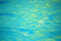 Zonneflarden van licht op een overzeese golf, het schilderen Stock Foto's