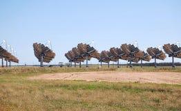 Zonnemacht Carwarp Australië Stock Foto