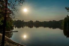 2 zonnen Stock Foto