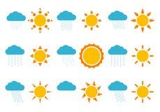 Zonnen en wolken Royalty-vrije Stock Foto
