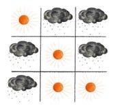 Zonnen en zwarte wolken Stock Fotografie