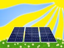 Zonnepaneel Stock Afbeelding
