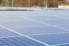 Zonnepaneel, Photovoltaic modules voor innovatie groene energie stock foto's
