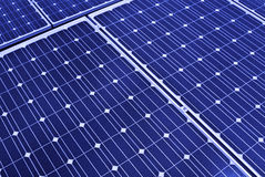 Zonnepaneel. Photovoltaic, vernieuwbare besparingen Stock Foto's