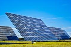 Zonnepaneel PV stock afbeeldingen