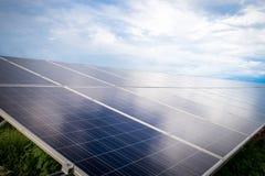 Zonnepaneel Schone energie van Thailand royalty-vrije stock afbeelding