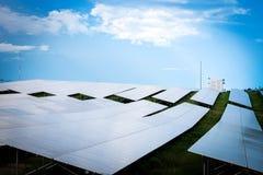 Zonnepaneel Schone energie van Thailand royalty-vrije stock foto's