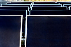 Zonnepanelen Stock Afbeelding