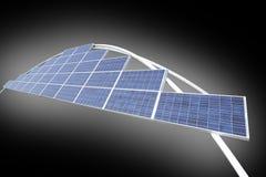 Zonnepanelen - milieuvriendelijke energie Royalty-vrije Stock Afbeelding